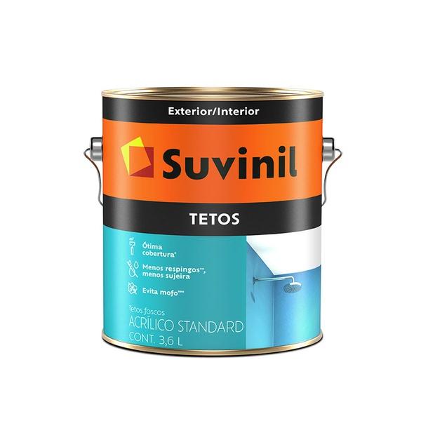 SUVINIL ACRÍLICO TETOS BRANCO NEVE 3,6L