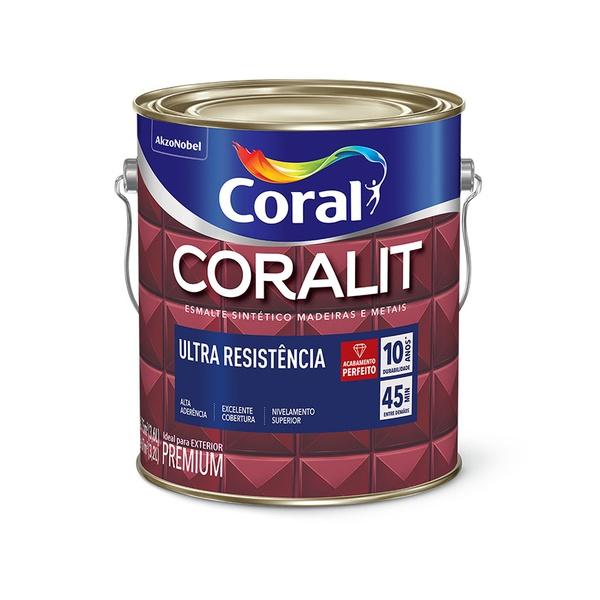 CORALIT ESMALTE ACETINADO BRANCO 3,6L