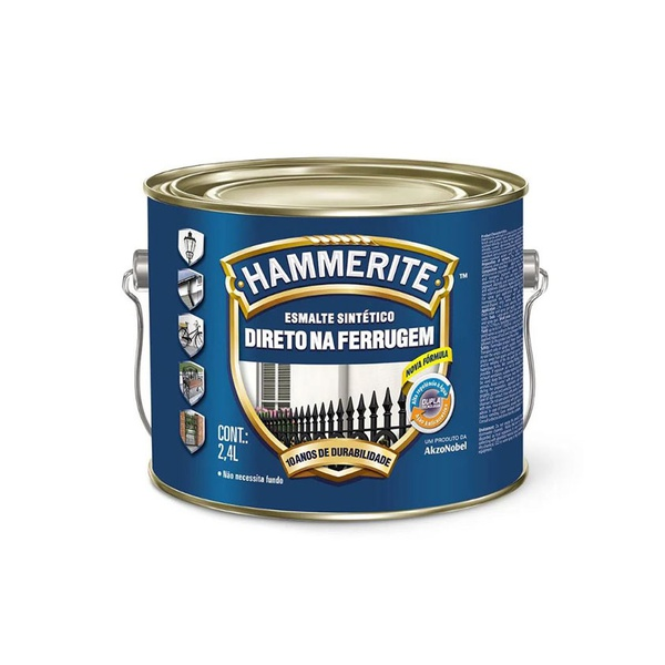 CORAL ESMALTE HAMMERITE PRETO 2,4L