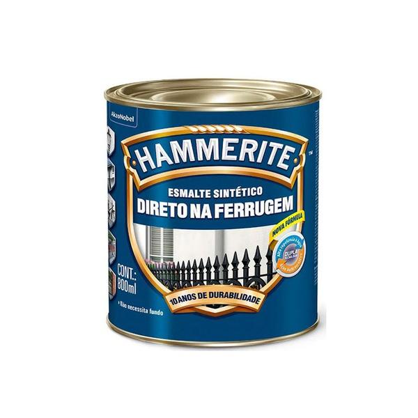 CORAL ESMALTE HAMMERITE CINZA 800ML