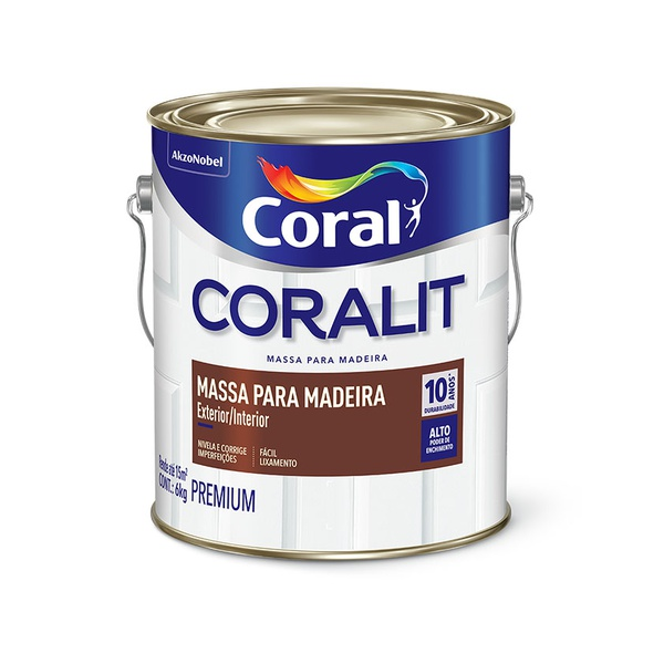 CORAL MASSA PARA MADEIRA 3,6L