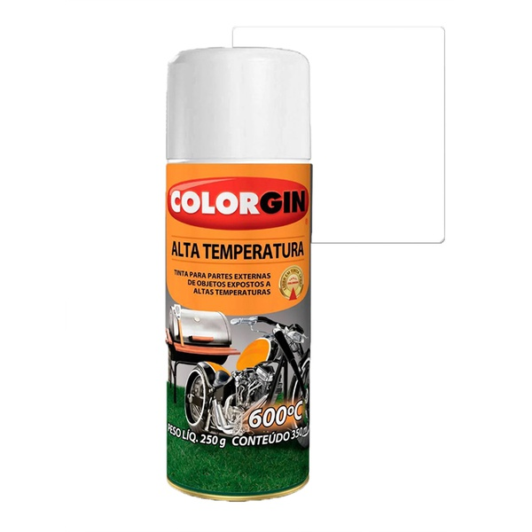 COLORGIN SPRAY ALTA TEMPERATURA BRANCO FOSCO 300ML
