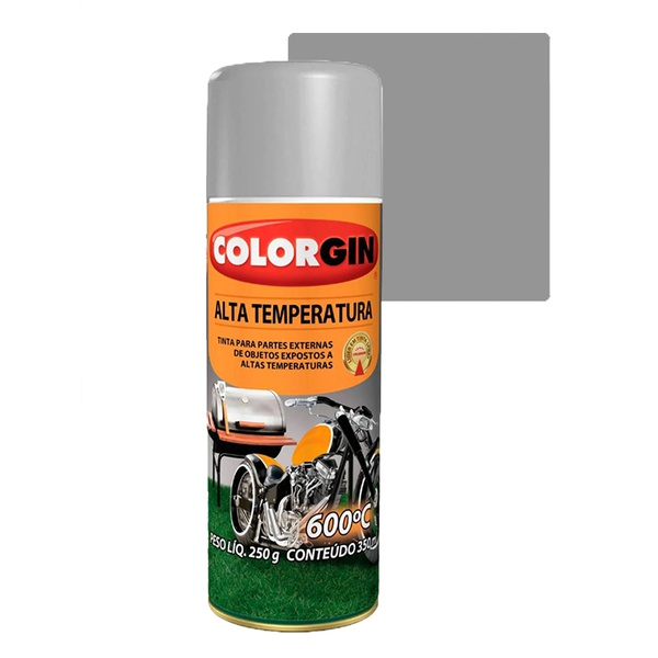 COLORGIN SPRAY ALTA TEMPERATURA ALUMÍNIO 300ML