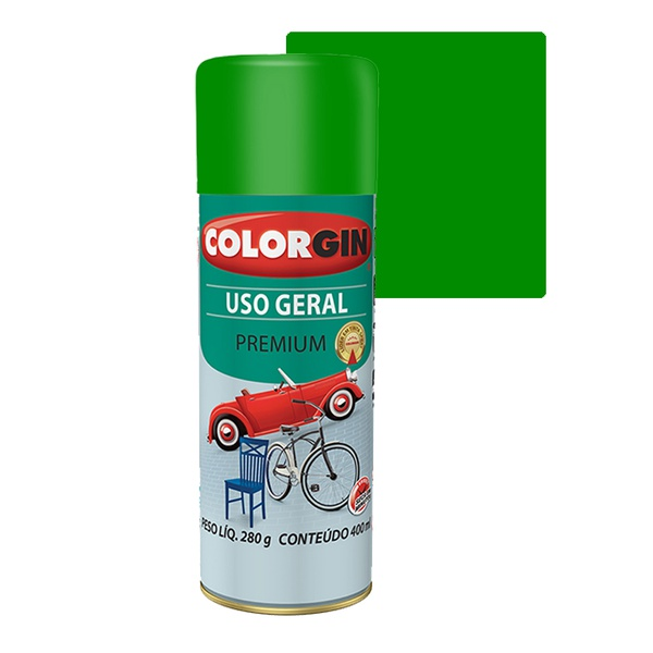 COLORGIN SPRAY USO GERAL VERDE 400ML