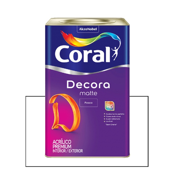 CORAL DECORA ACRÍLICO FOSCO BRANCO 18L