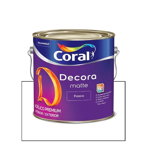 CORAL DECORA ACRÍLICO FOSCO BRANCO 3,6L