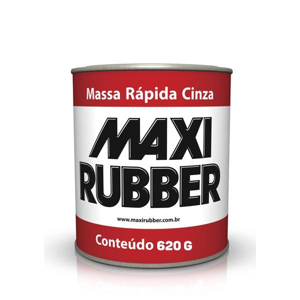 MASSA RÁPIDA CINZA MAXI RUBBER 620GR