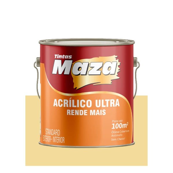 MAZA ACRÍLICO ULTRA AMARELO CANARIO 3,6L