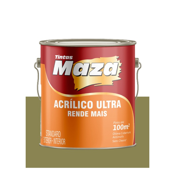 MAZA ACRÍLICO ULTRA VERDE MUSGO 3,6L