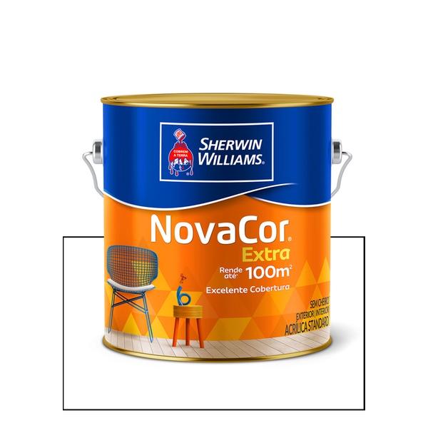 NOVACOR ACRÍLICO FOSCO PAREDE BRANCO 3,6L