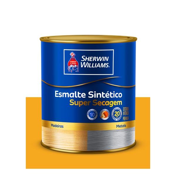 SHERWIN WILLIAMS ESMALTE SINTÉTICO SUPER SECAGEM AMARELO OURO 900ML