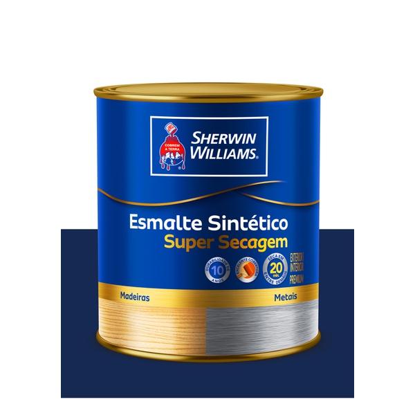 SHERWIN WILLIAMS ESMALTE SINTÉTICO SUPER SECAGEM AZUL DEL REY 900ML