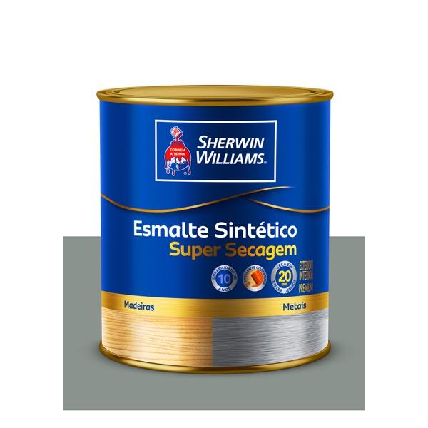 SHERWIN WILLIAMS ESMALTE SINTÉTICO SUPER SECAGEM CINZA MEDIO 900ML