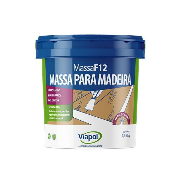 VIAPOL MASSA F12 BRANCA 1,65KG