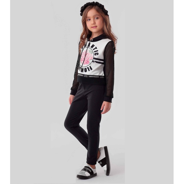 Conjunto Menina Petit Cherie Blusa Calça Capuz Legging