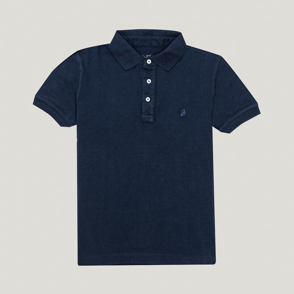 Camisa Polo Azul Marinho Algodão