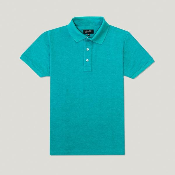 Camisa Polo Verde Laguna Algodão