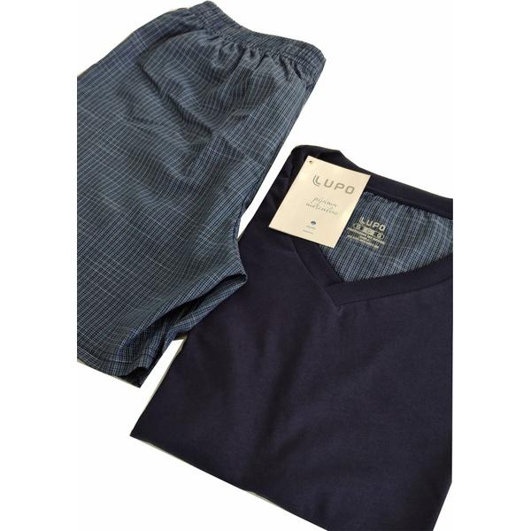 Pijama Lupo Curto Comfort Azul Marinho