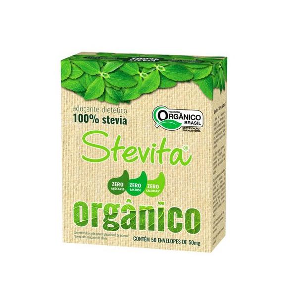 Adoçante Stevia Orgânica Sachê - 50mg - Stevita