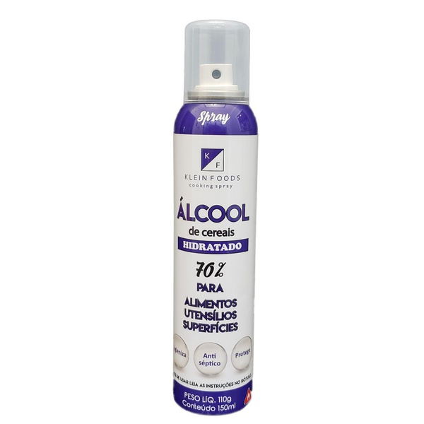Álcool De Cereais Hidratado 70% Spray 150ml