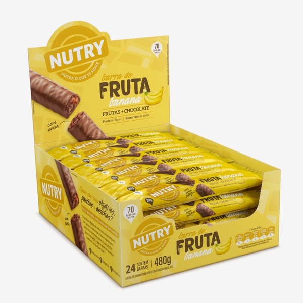 Barra de Frutas Nutry Banana 24x20g