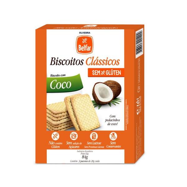 Biscoito Belfar Coco Sem Glúten 86g