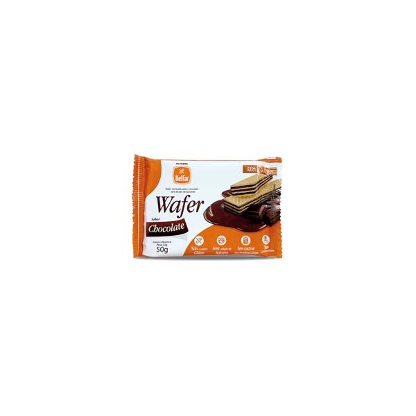 Wafer Belfar Chocolate Sem Glúten 50g