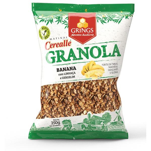 Cerealle Granola Banana e Mel Grings 250g