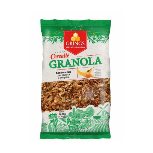 Granola Banana e Mel Grings 800g