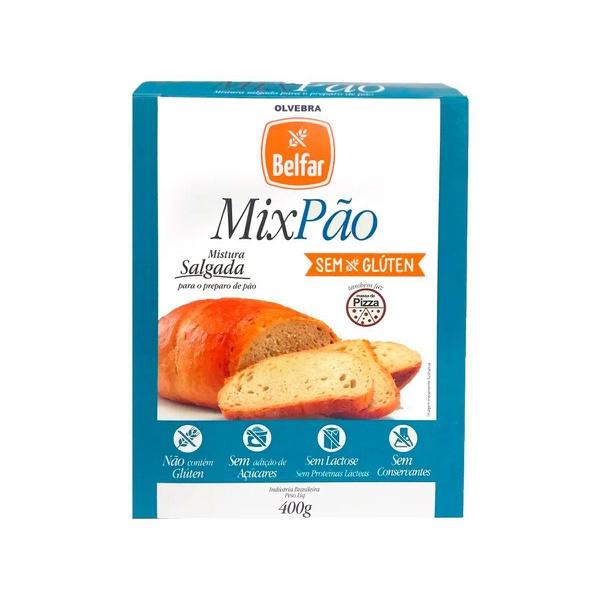 Mistura Mix Pão Sem Glúten Sem Leite E Lactose Belfar 400g