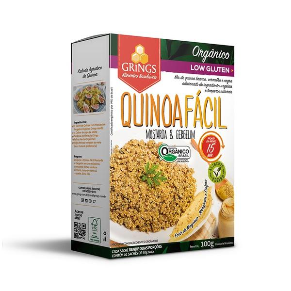 Quinoa Fácil Mostarda e Gergelim Orgânica 100g