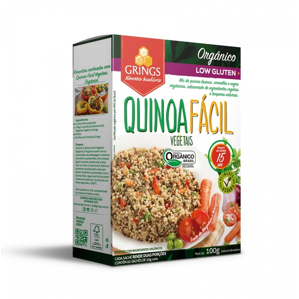 Quinoa Fácil Vegetais Orgânica 100g