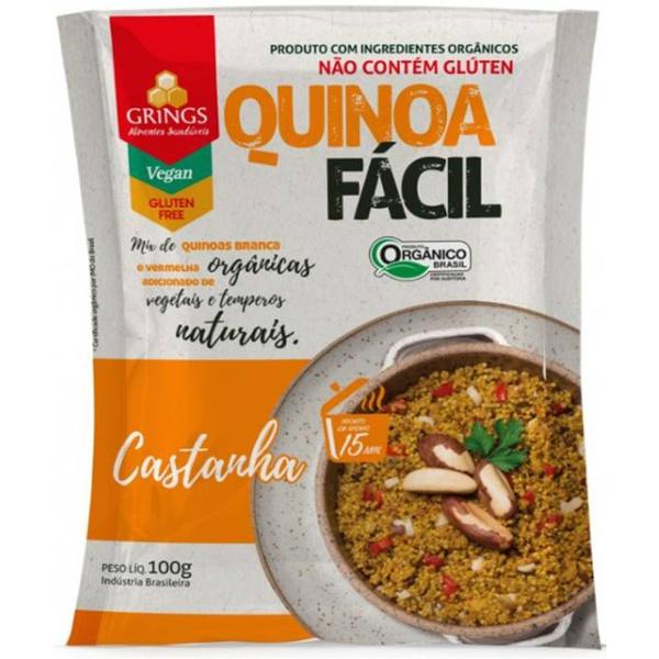 Quinoa Fácil Castanha Orgânica 100g