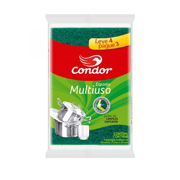 Esponja Multiuso Condor Leve 4 Pague 3