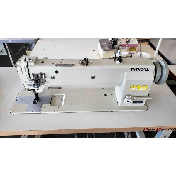Máquina de Costura Reta Transporte Triplo Cabeçote Alongado Typical Usada
