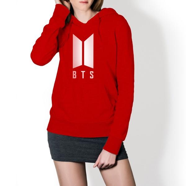Blusa de Moletom Canguru Vermelho BTS Modelo 1