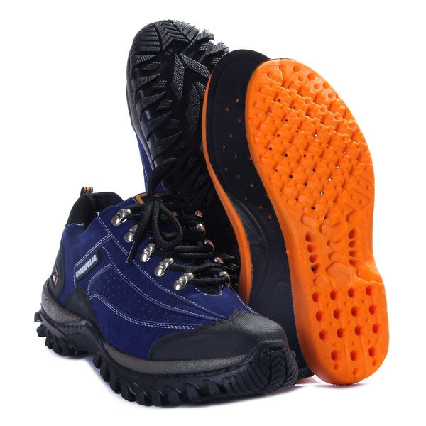 Bota Adventure Bergally Caterpillar Cano Baixo Azul