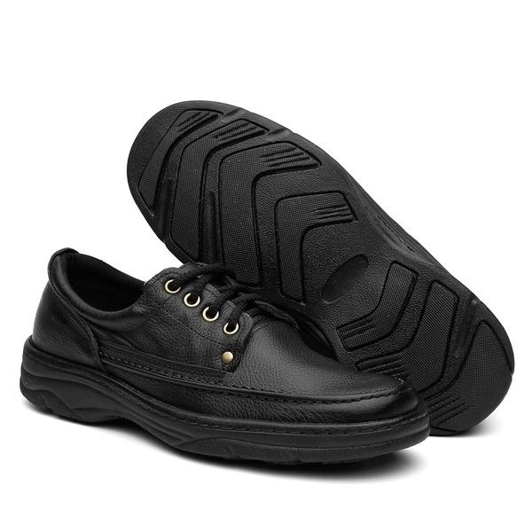 Sapato Casual Ortopédico Anti Stress Com Cadarço