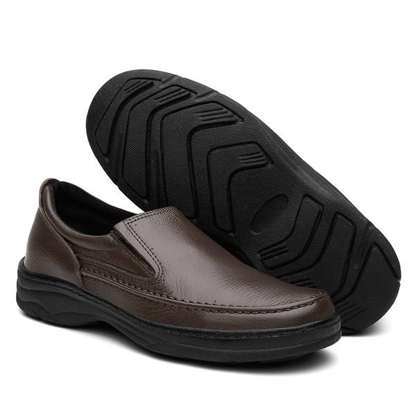 Sapato Ortopédico Bergally Com Elástico Marrom