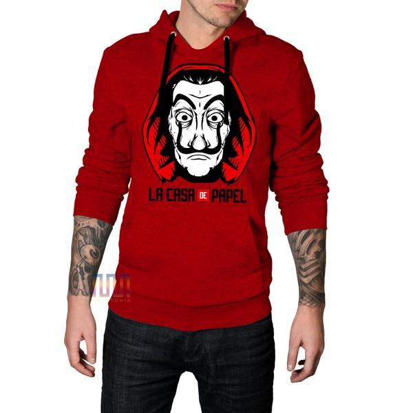 Blusa de Moletom La Casa de Papel Vermelho