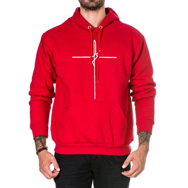 Blusa de Moletom Canguru Vermelho Fé