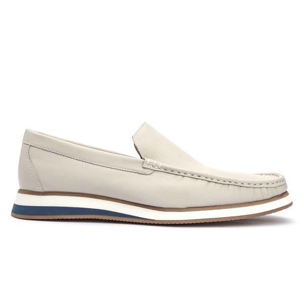 Sapato Mocassim Florenza Em Couro Branco