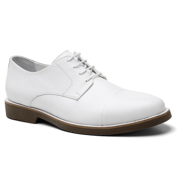 Sapato Derby Alemanha Branco - Bernatoni Calçados
