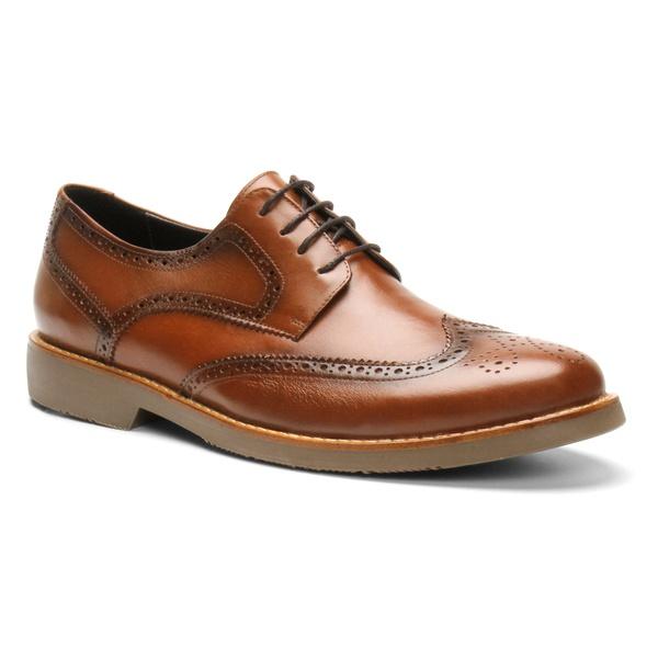 Sapato Derby Brogue Paris Caramelo - Bernatoni Calçados