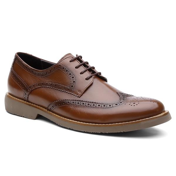Sapato Derby Brogue Paris Whisky - Bernatoni Calçados