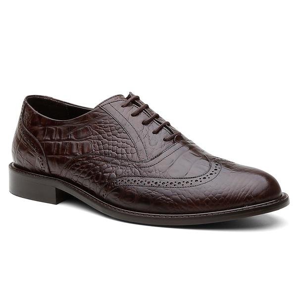 Sapato Oxford Brogue Austrália Café - Bernatoni Calçados