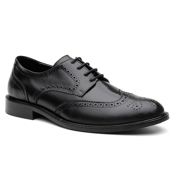 Sapato Social Brogue Bélgica Preto - Bernatoni Calçados
