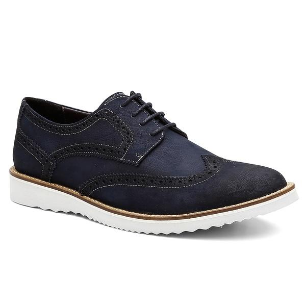 Sapato Brogue Bernatoni Milão Marinho