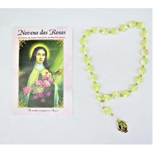 Novena das Rosas - Santa Teresinha do menino Jesus - Bege