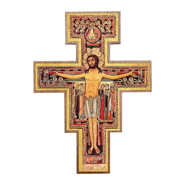 Cruz São Damião para parede 12 cm